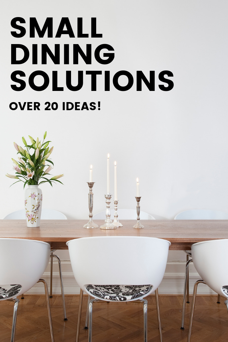 No space, no problem – 13+ Small dining room ideas! – The Style