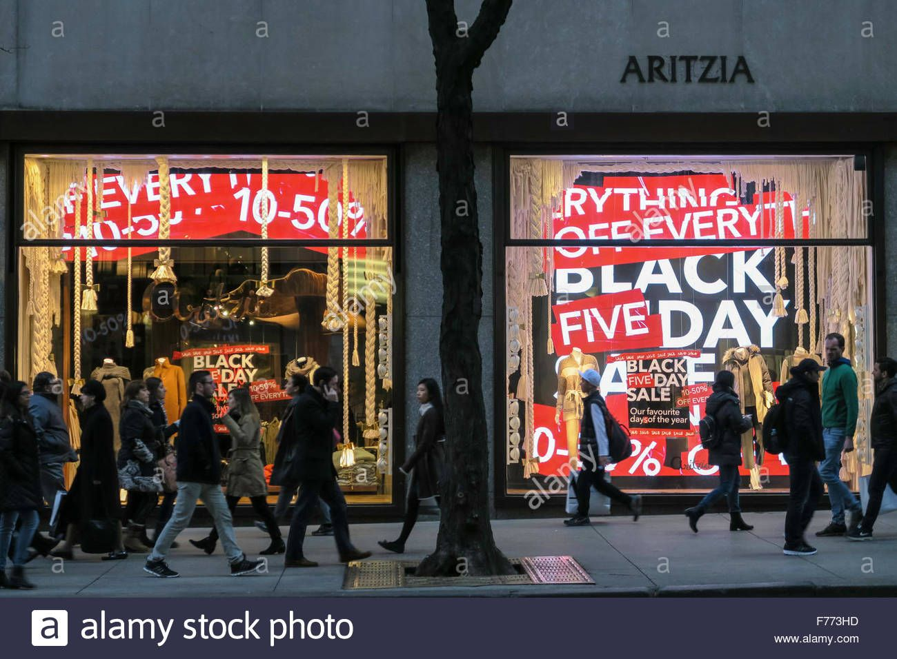 Aritzia Store Windows Advertising Black Friday Sales Nycstock