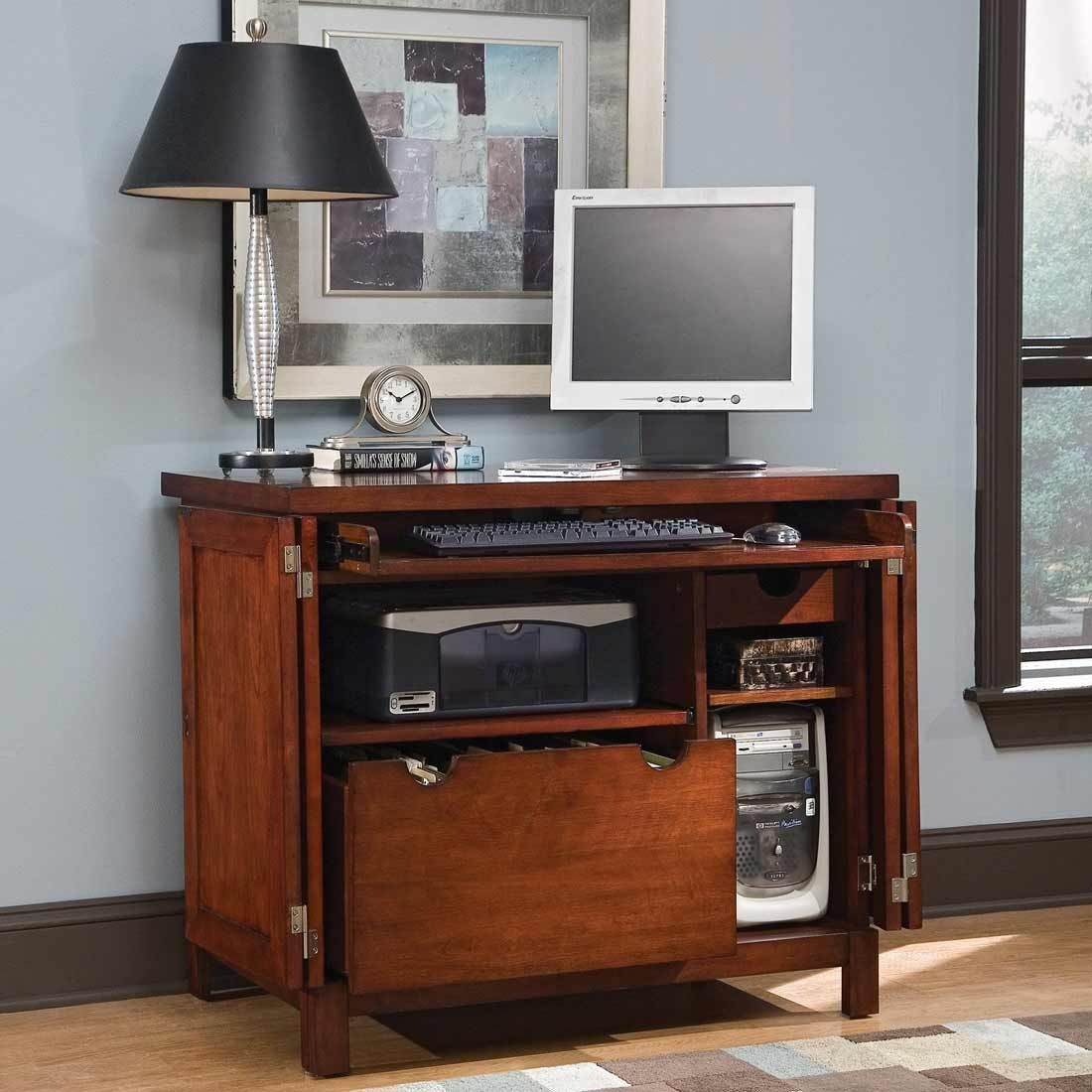 Superbe Compact Computer Desk Armoire