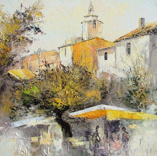 Peinture à l\' huile sur Toile au couteau de : Manuel RUBALO ...