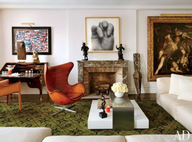 The mix of modern with antiques for interiors with inspiring