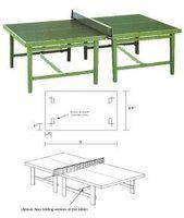 Como Disenar Una Mesa De Ping Pong Con Planos Mesa De Ping Pong Mesa De Tennis Mesas De Ping Pong