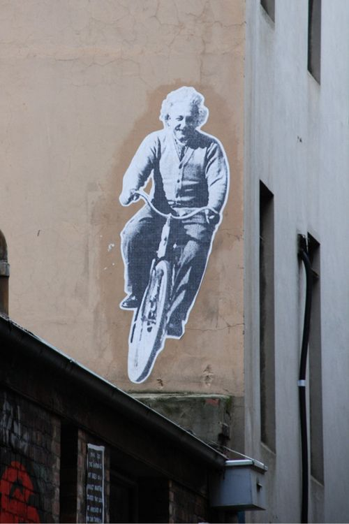 Einstein on a #bicycle. #streetart