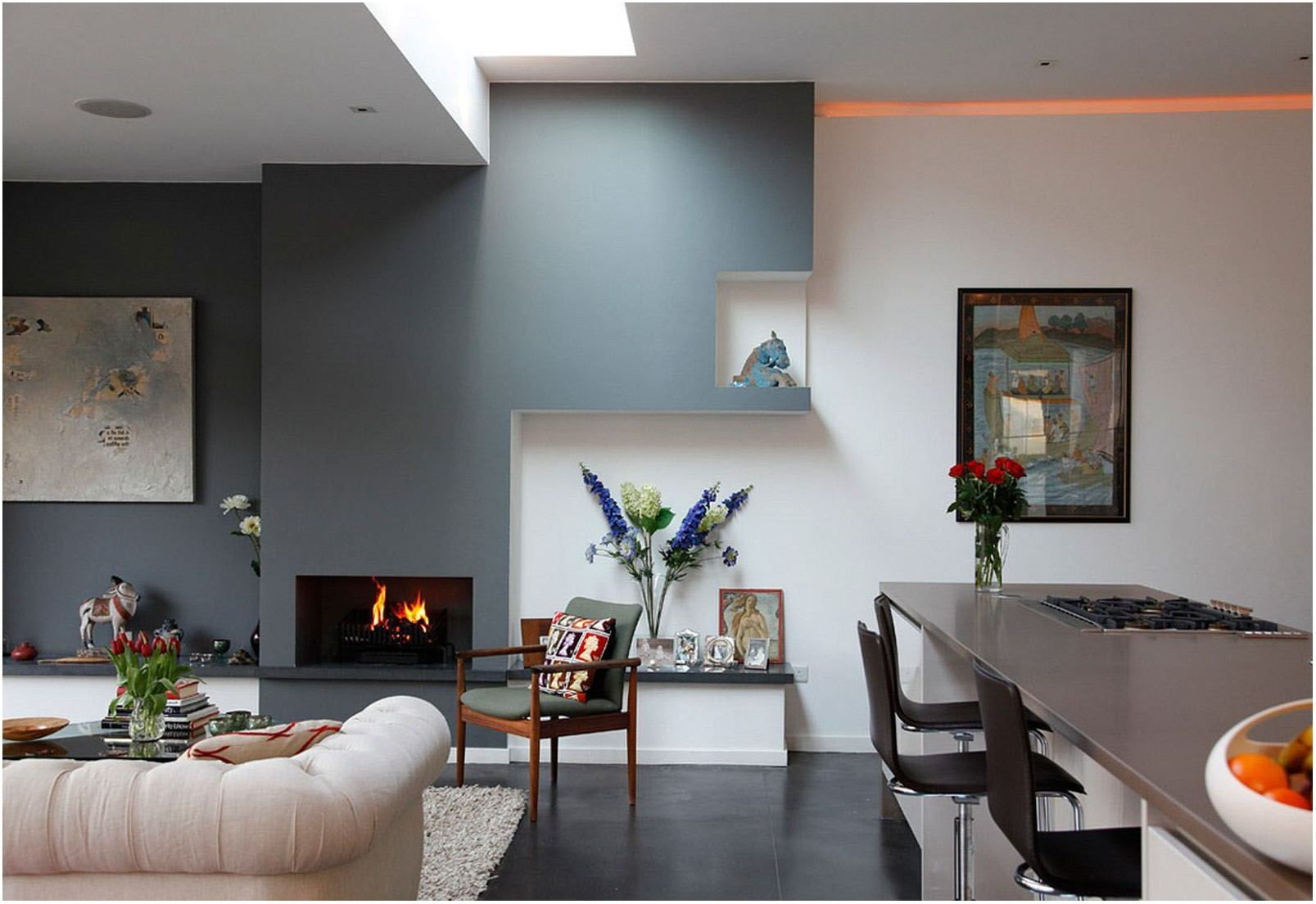 Paint Colors For Living Room Kitchen Combination   Living ...