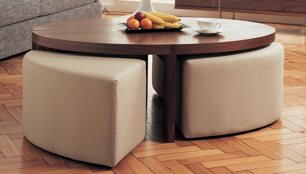Coffee Table With Ottoman Seating Underneath Coffee Table With Seating Coffee Table With Stools Round Wood Coffee Table