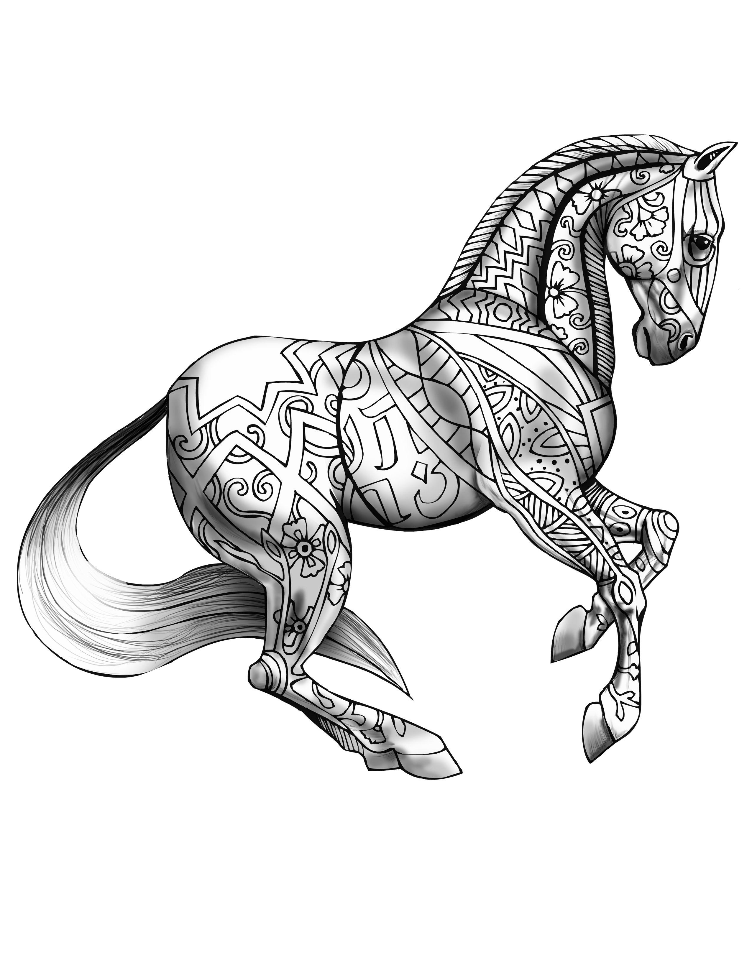 Ausmalbilder Erwachsene Pferd : Pin Von Akii Gaikwad Auf 101ink Pinterest