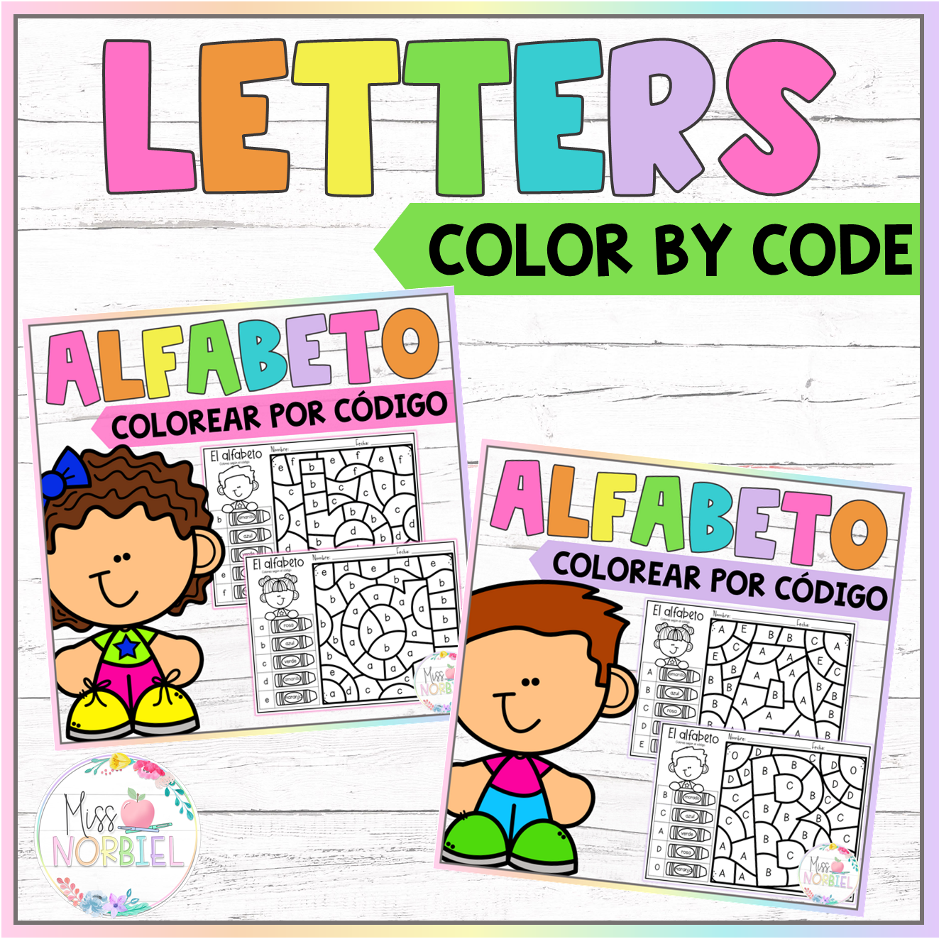 Alphabet Color By Code In Spanish Letters Color By Code