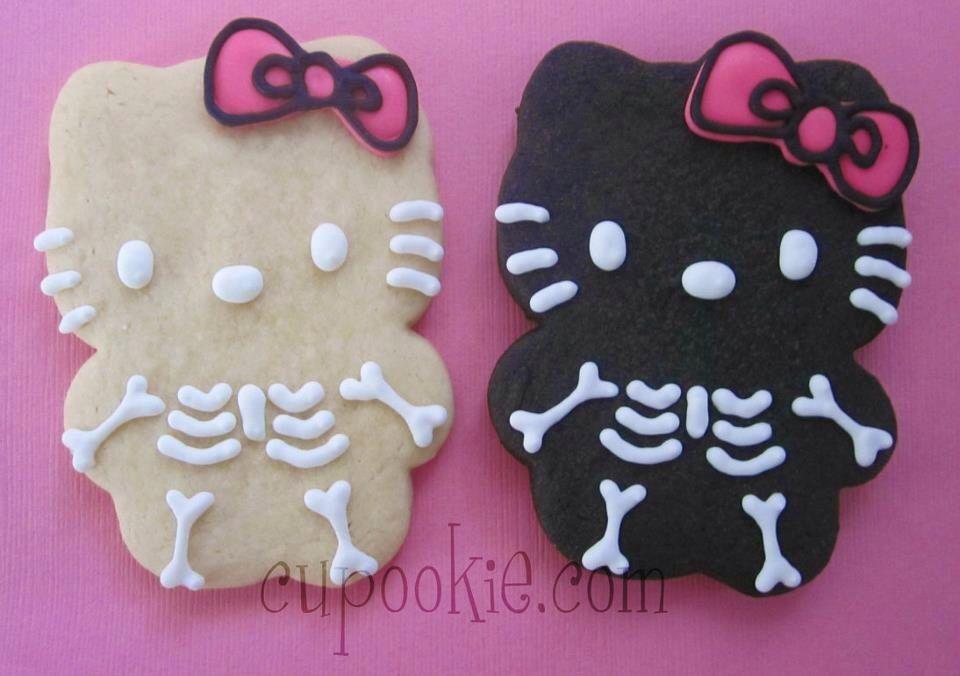Hello kitty skeletons!!! Halloween!!! Sweet Lookin Treats - hello kitty halloween decorations