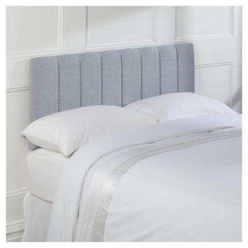 Seetall Haddon Headboard Linen Effect Light Grey Double