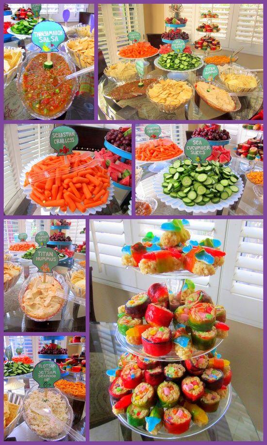 Mermaid Party Food Ideas Girl Party Ideas Little Mermaid Food