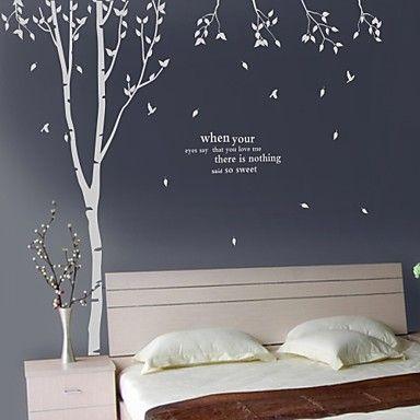 Birch tree wall decals continuaci n te voy a proponer for Vinilos decorativos recamaras