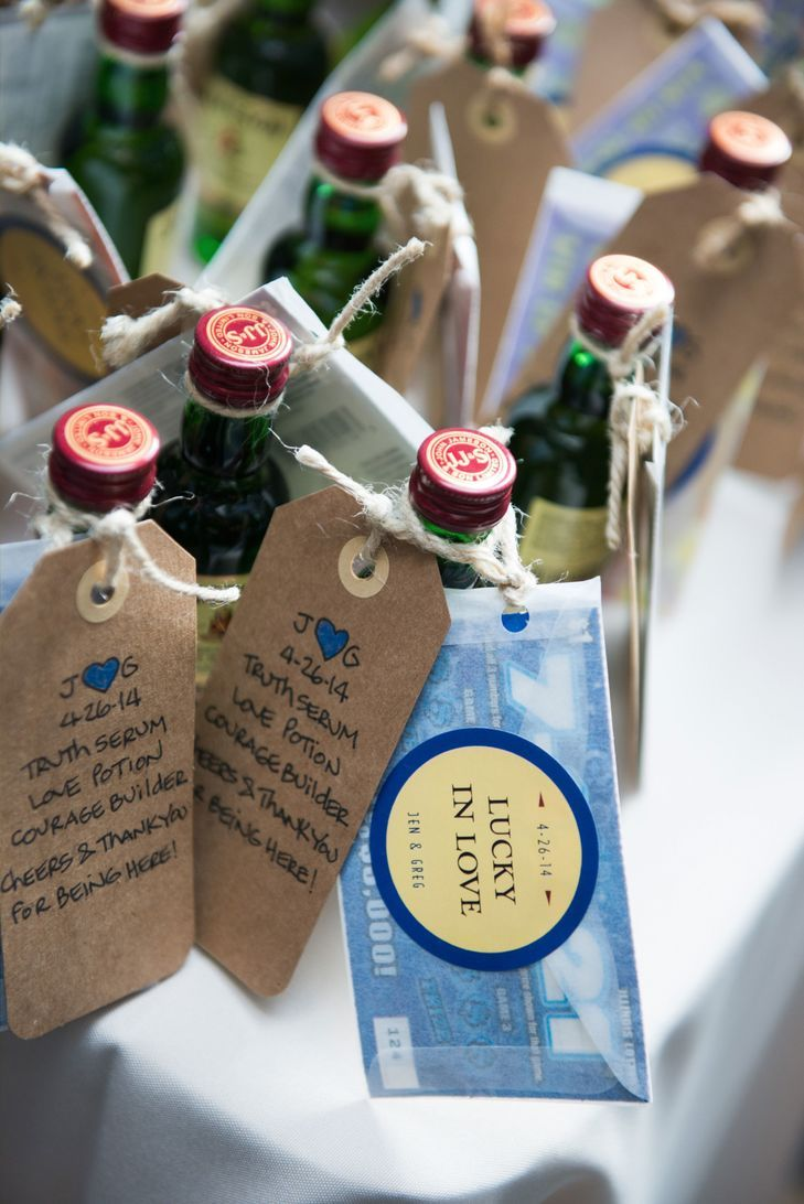 Mini whiskey bottle wedding favors wedding bottles
