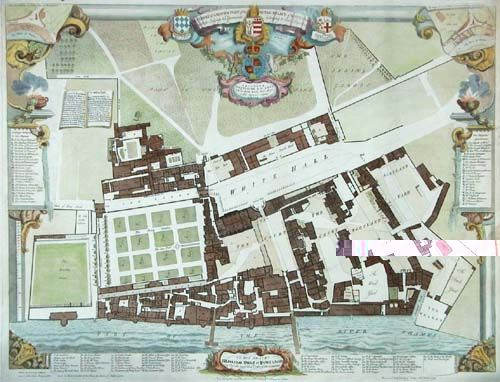 Map Of Whitehall Palace Tudor Era Pinterest Tudor