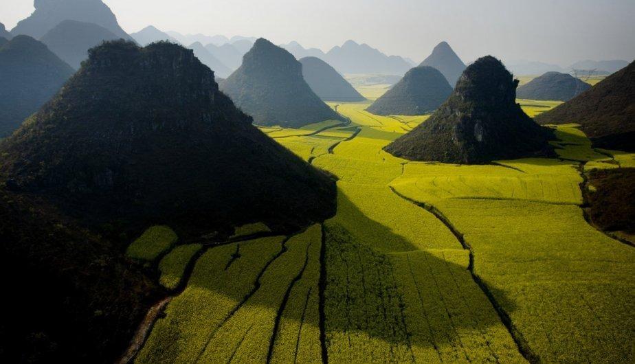 China, Montañas de Luoping.