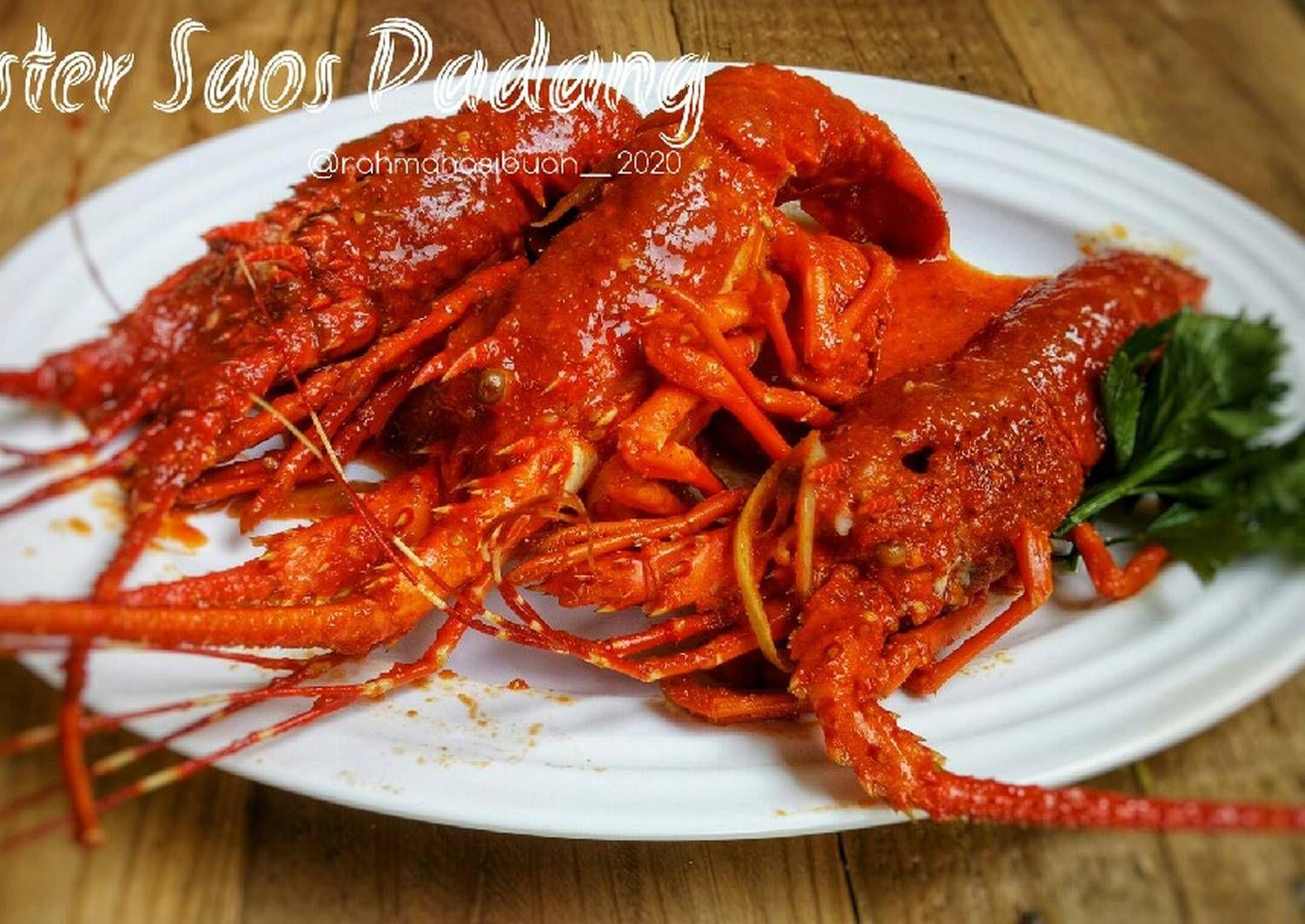 Resep Lobster Saos Padang Oleh Rahma Hasibuan Resep Resep Lobster Masakan Rebusan