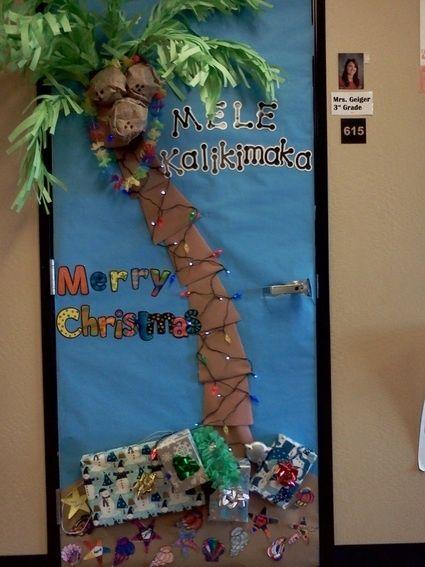 Hawaiian Christmas Door | school stuff | Pinterest ...