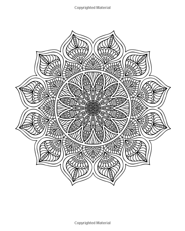 Amazoncom Adult Coloring Book Designs Mandalas Stress Relief