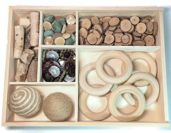 Loose parts kit reggio inspired montessori waldorf - Material waldorf ...