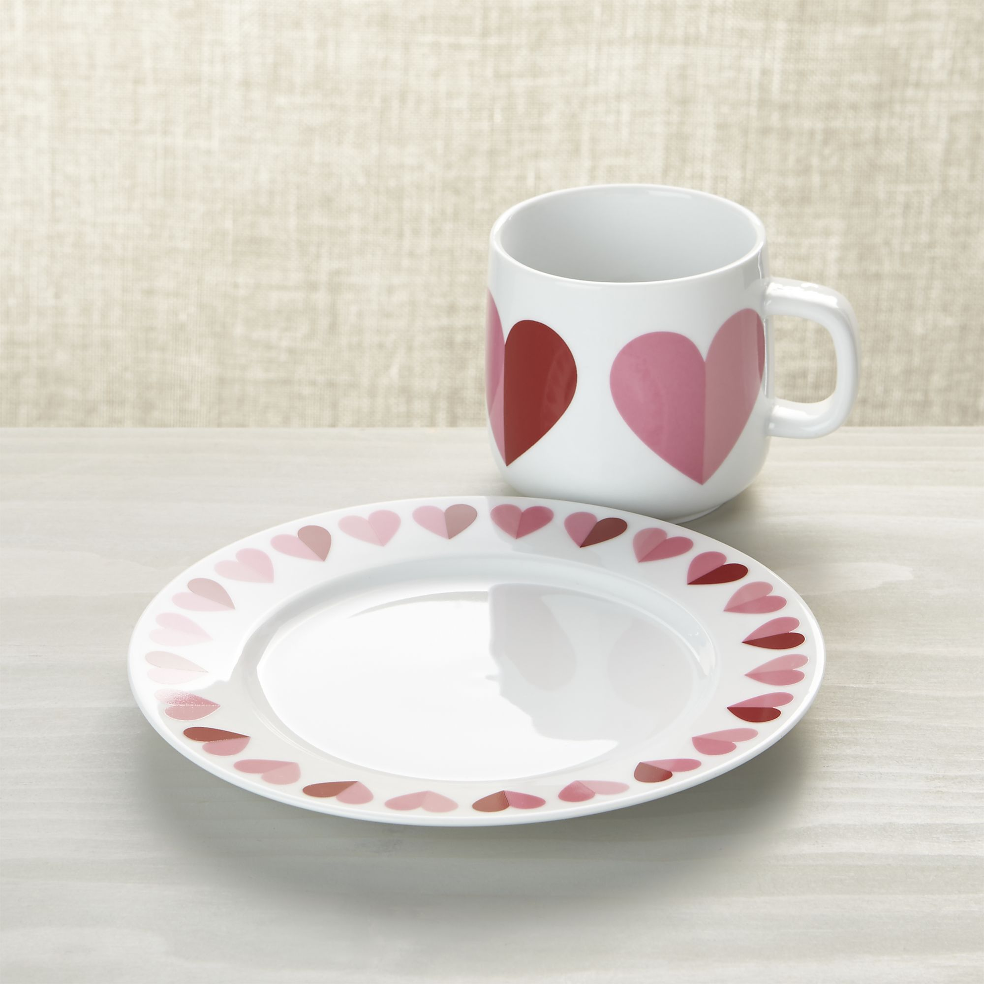 """Valentine 8"""" Heart Plate in Salad Plates 