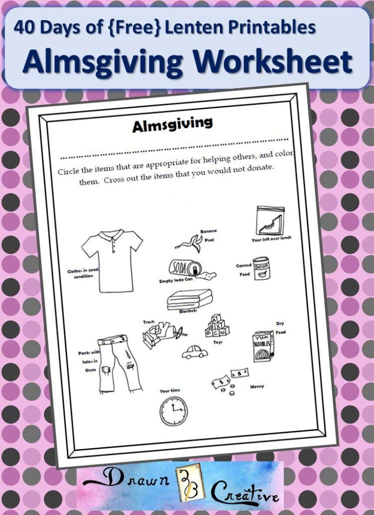 Almsgiving Worksheet | Catholic Printables | Pinterest | Worksheets ...
