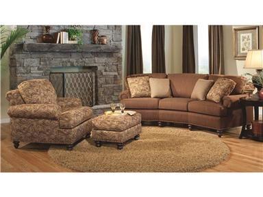 Smith Brothers Living Room Three Cushion Conversation Sofa