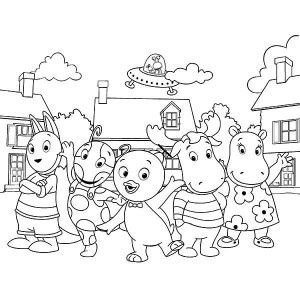 The Backyardigans The Backyardigans Picture Coloring Page The