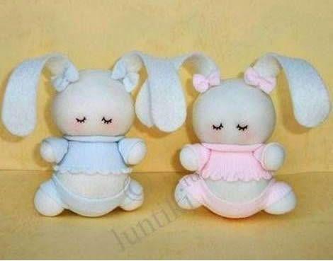 Como Hacer Conejitas Con Calcetines Sock Bunny Sock Dolls Sock Toys
