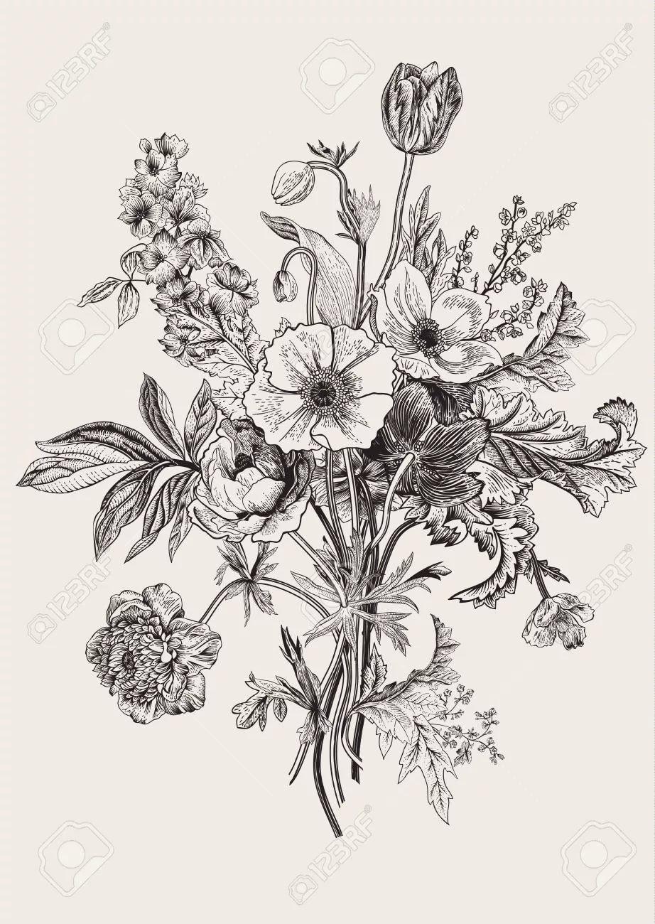 гравюра цветы: 13 тыс изображений найдено в Яндекс.Картинках ...