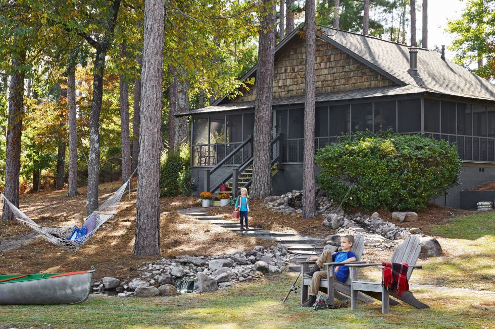 The inside of this alabama cabin will make you wish it was