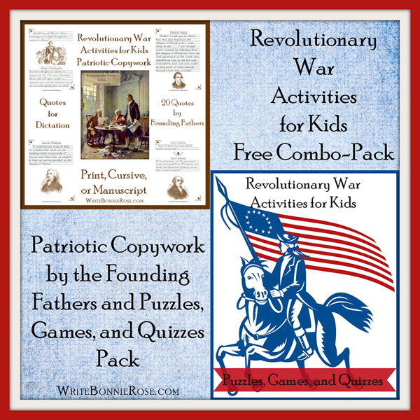 FREE Revolutionary War Activities For Kids Combo Pack American - American revolution facts