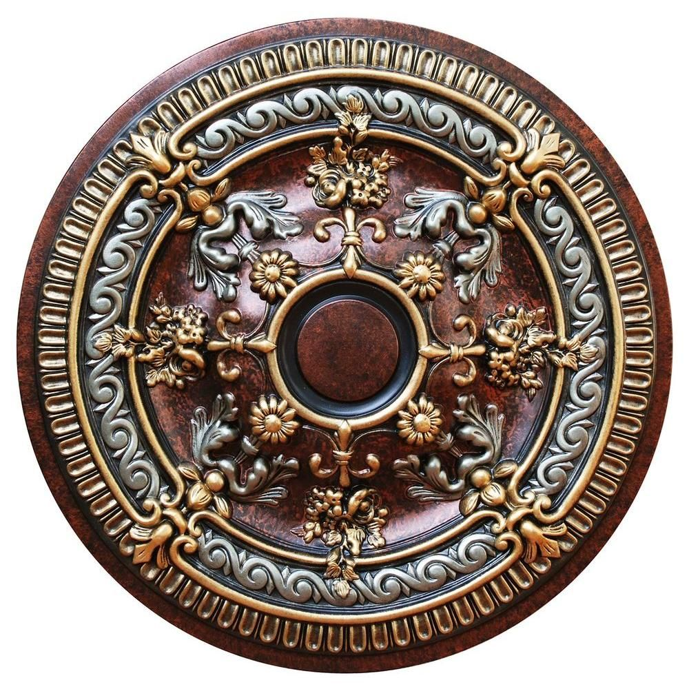 medallion ceiling medallions brass antique pin round