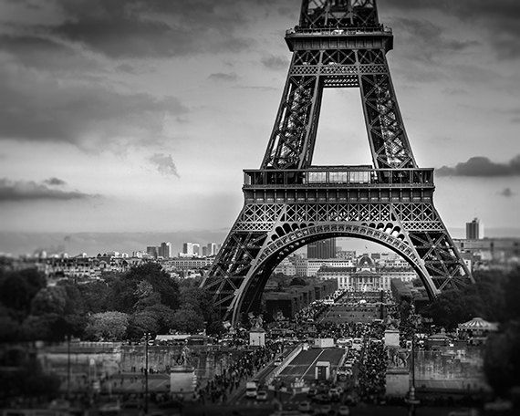Eiffel tower photography black and white paris print for Black and white paris wall mural