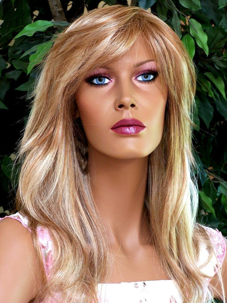 Provocative Layered Strawberry Blonde 2Tone Bedhead Wig