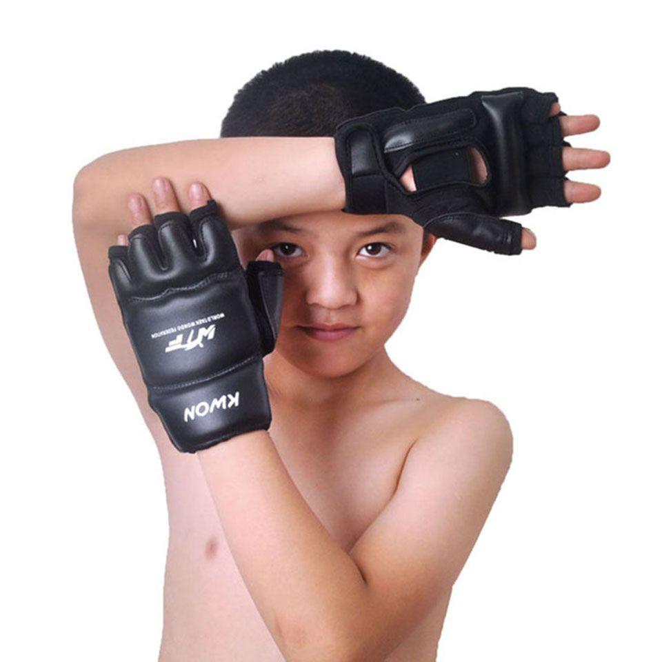 Dzieci Dzieci Half Finger Rękawice Bokserskie Rękawice Z Jednym