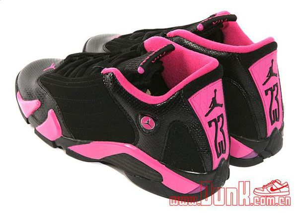 hot sale online 20b05 db388 black   pink jordans   Air Jordan 14 GS – Black   Pink – New Photos...i  want these!