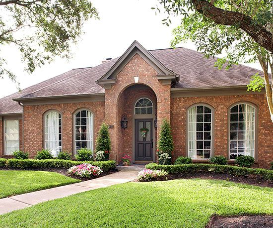 Ranch style home ideas curb appeal ranch style homes - Exterior painting in cold weather ...