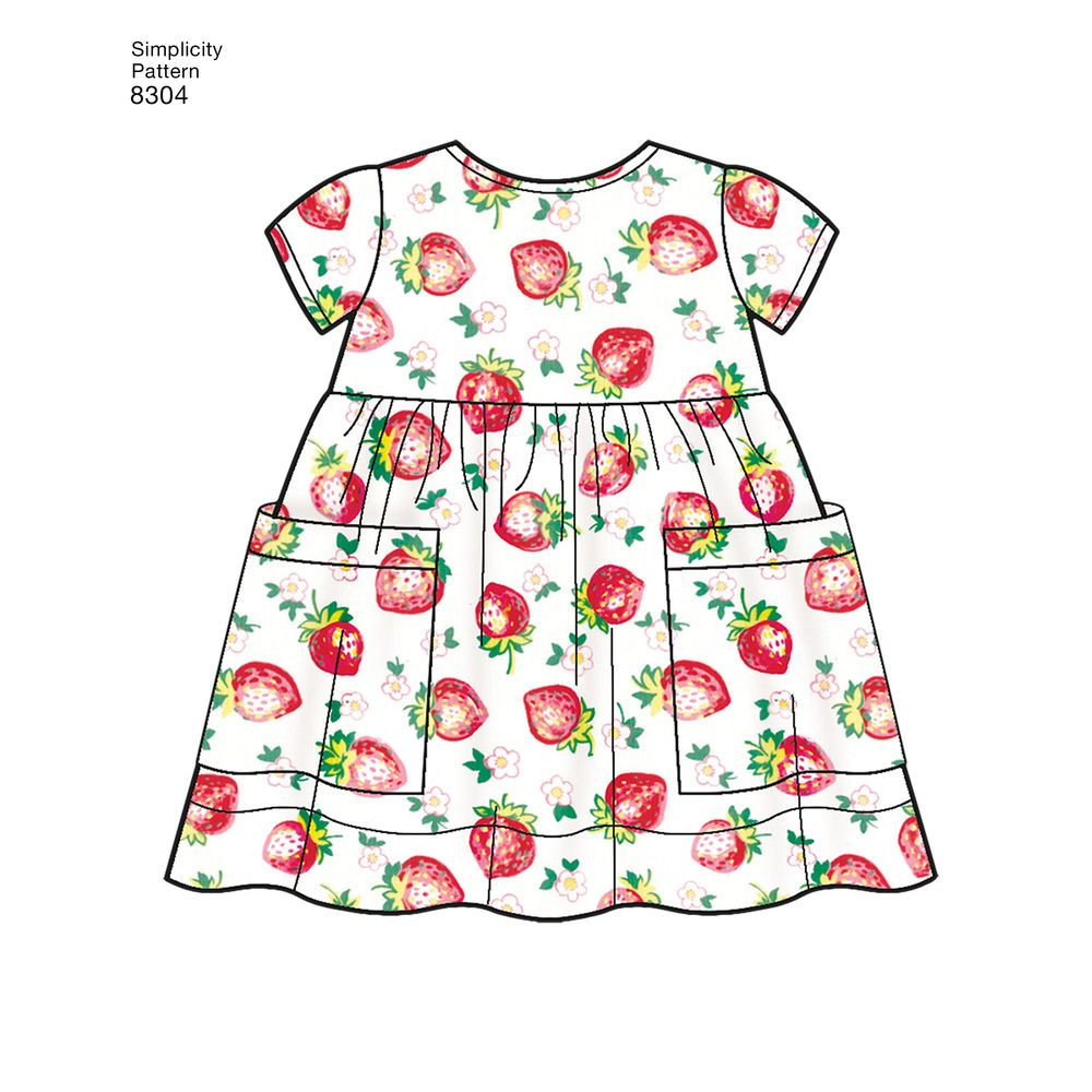 Top Bibs and Headband Sewing Pattern 8304 Dress Simplicity Babies Leggings