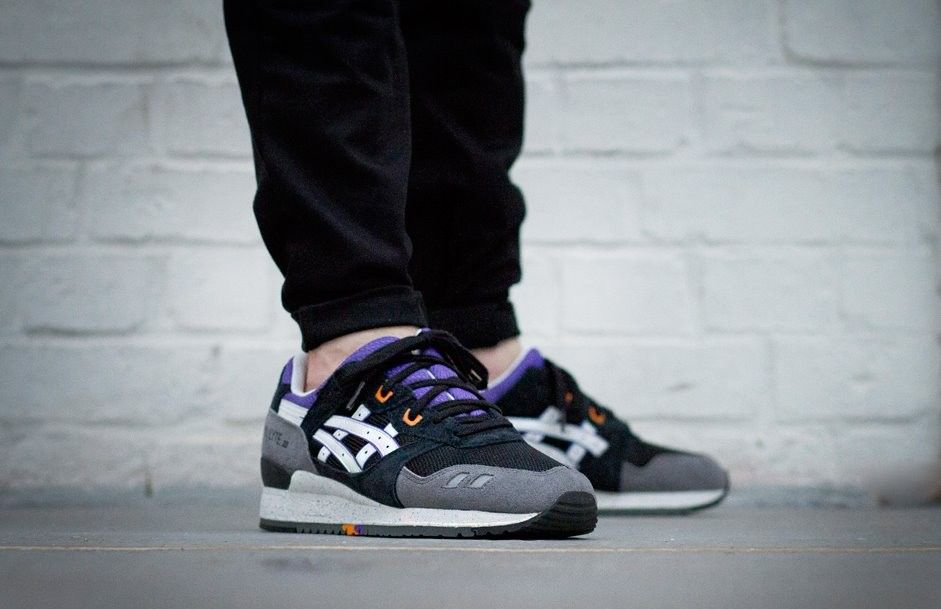 asics gel lyte iii white purple orange