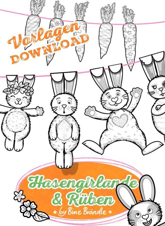 5-teiliges Osterkörbchen mit Hase /& 3 Hühnchen Dekoration für Ostern