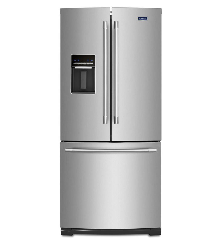 Inch wide french door refrigerator with external water dispenser