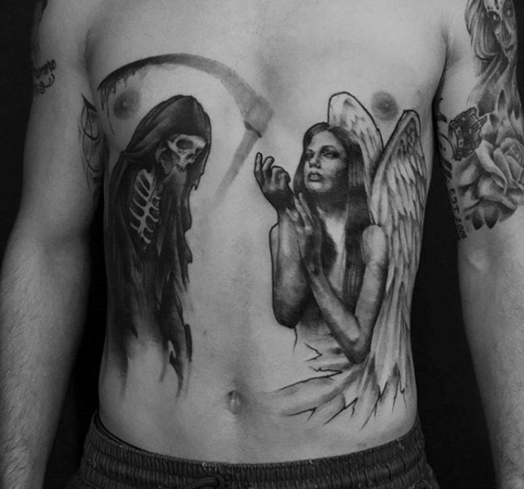 Photo of ✅[100+] Encre Black Angel Death Skeleton Tattoo Design (1080×1008) (2020) – # 108 …