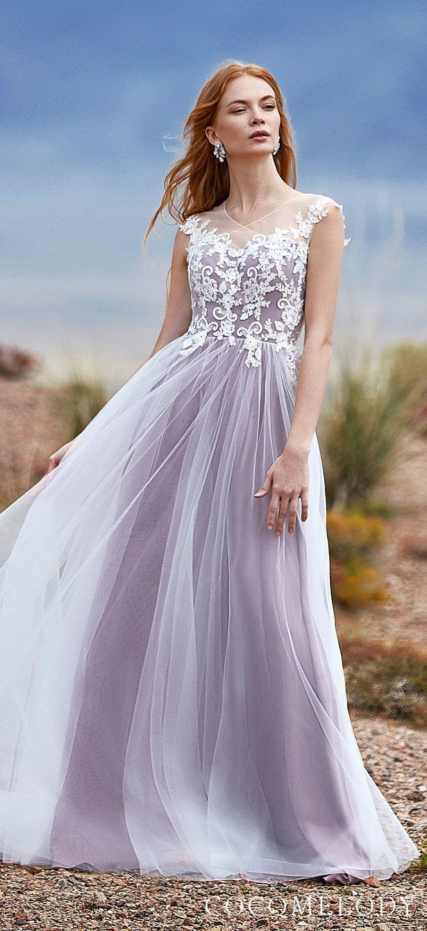 Lavender Colored wedding dress by in 2020