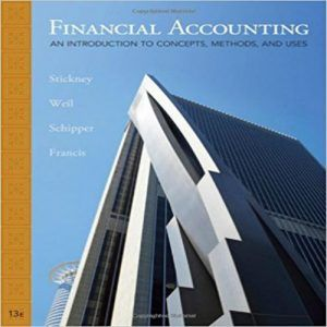 Get full textbook answers from financial accounting 7th edition.