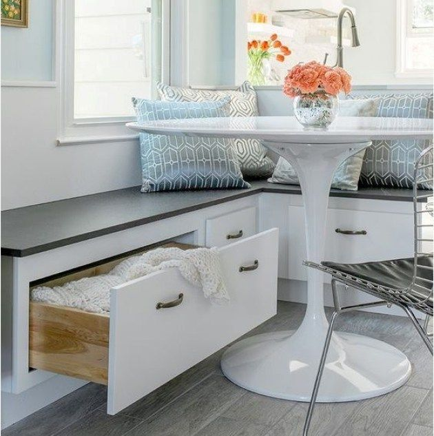 Dining Room Storage Ideas To Keep Your Scheme Clutter Free: 25 Exquisite Corner Breakfast Nook Ideas In Various Styles