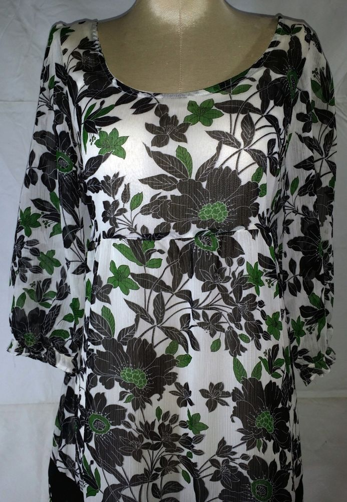 Beautiful Anthropologie Fei Floral Peasant Blouse! Feminine Top Floral Print Baby doll, Empire Style. Perfect for a party or any occasion, especially with the holidays coming! Size XS Absolutely Adorable! #UseWearWant