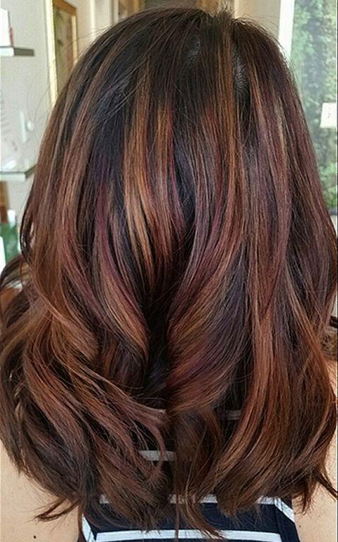 Colors Fall Hair Highlights 48 Fall Hair Highlights And Hair Coloring
