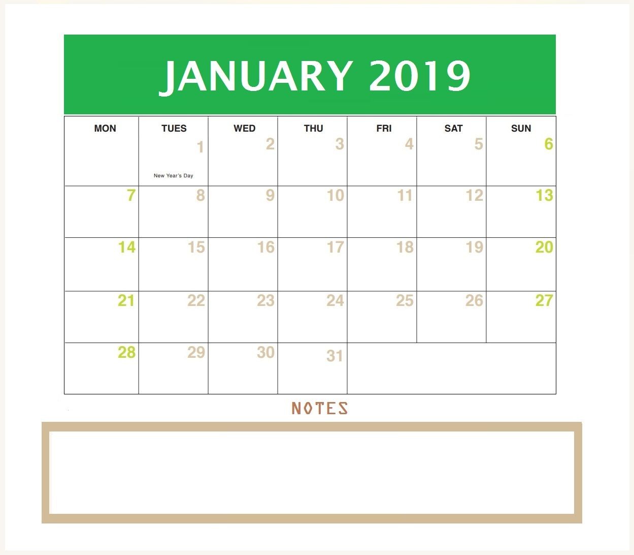 Fine January 2019 Desk Calendar Desk Maxcalendars Desk Beutiful Home Inspiration Truamahrainfo