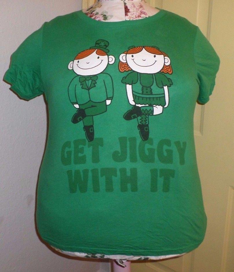 plus size 4x 26/28 torrid t-shirt get jiggy with it st. patricks