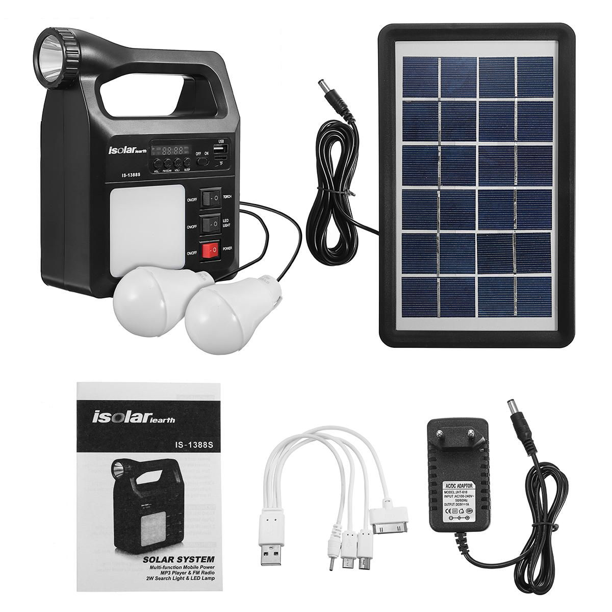 Us 64 42 Solar Powered System Protable Dc System Light Kit Multifuncation Solar Generator With Solar Panel Electrical Equipment Supplies From Tools Indust
