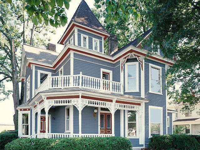 Victorian Blue Victorian Homes Exterior Victorian House Colors House Paint Exterior